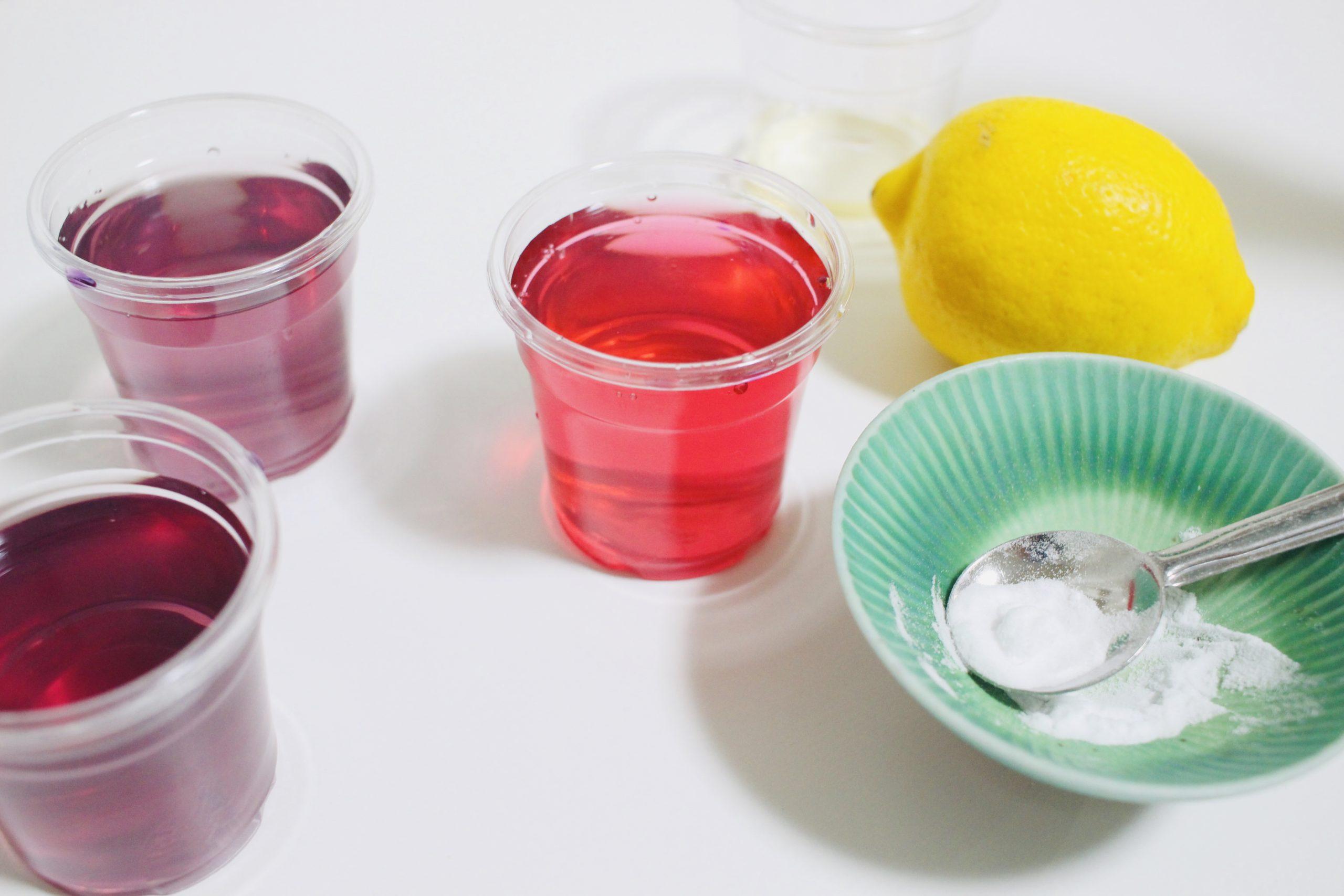 しそジュースの実験