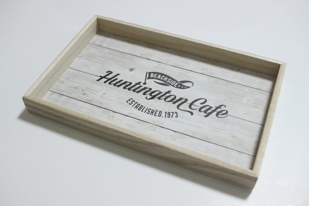 キャンドゥ「木製トレー(カフェアメリカン)」