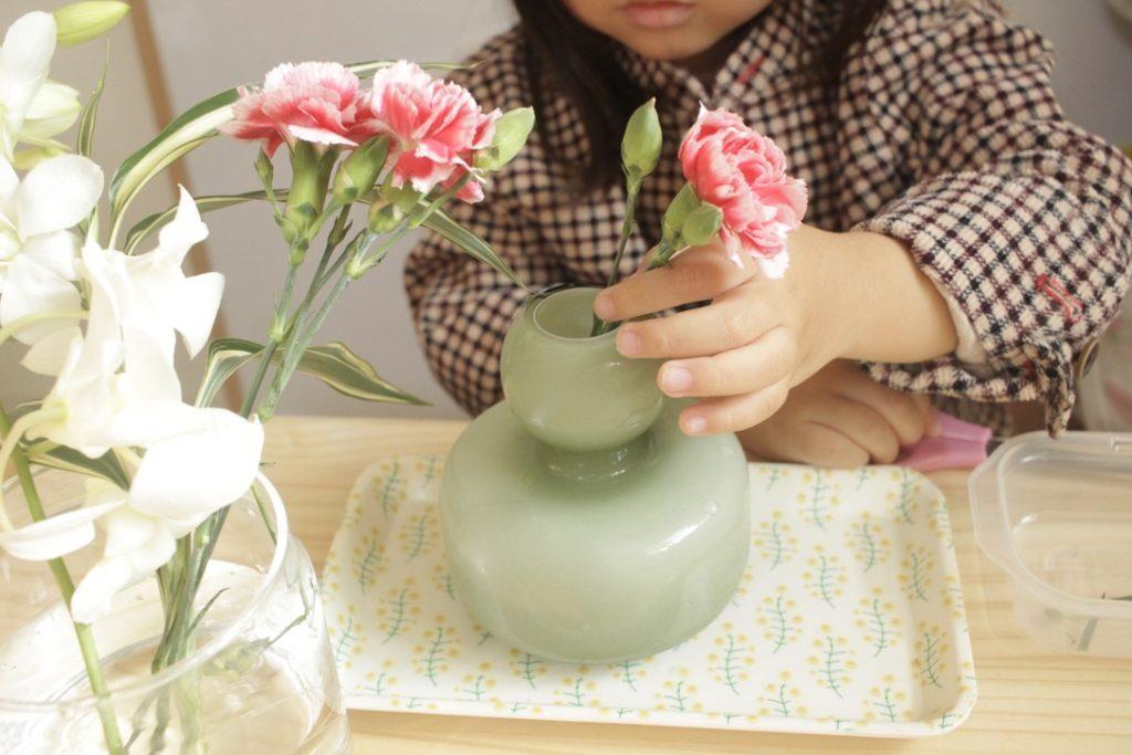 モンテッソーリ 花を生けるお仕事