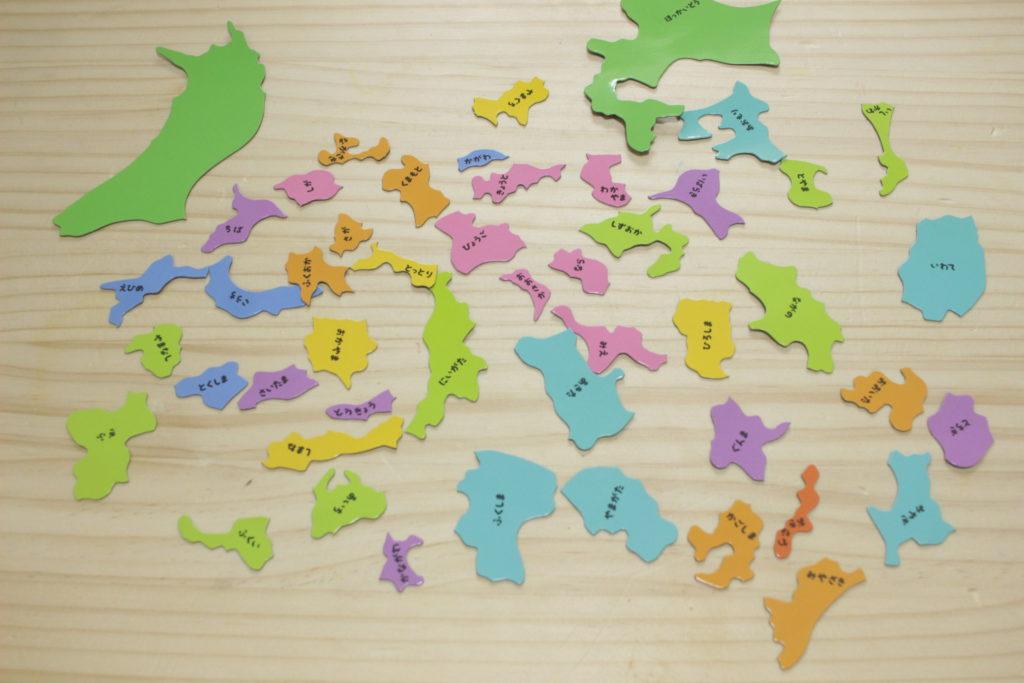 フレークマグネット 日本地図