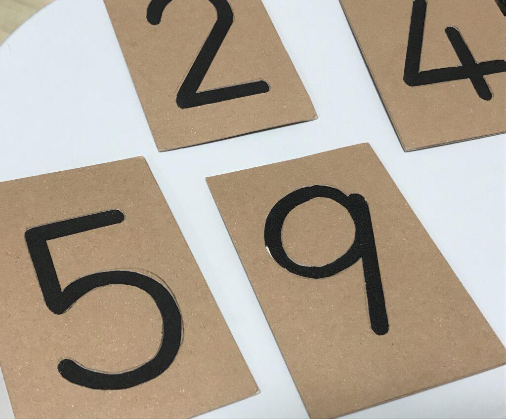 砂文字板の数字版