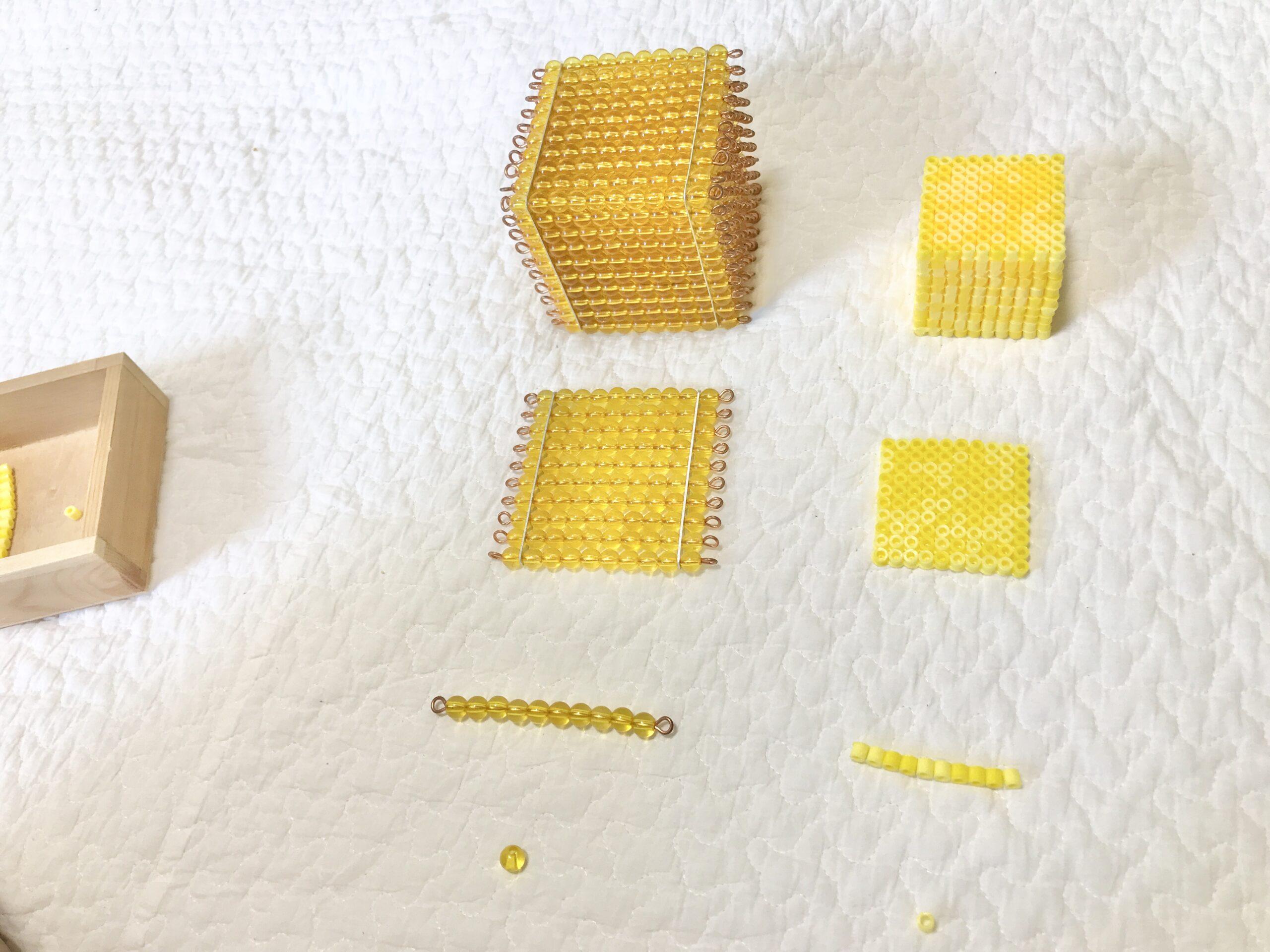 モンテッソーリの金ビーズ(手作り)
